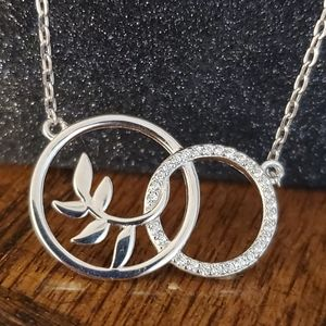 Jewelry - NEW S925 Peace Intwine Circle Necklace